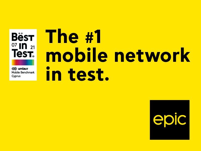 Η Εpic αναδεικνύεται για 4η συνεχή φορά το #1 δίκτυο κινητής in test